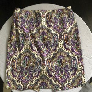 J Crew Paisley Pencil Skirt in size 12